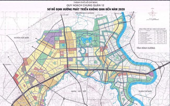 sơ đồ định hướng phát triển quận 12
